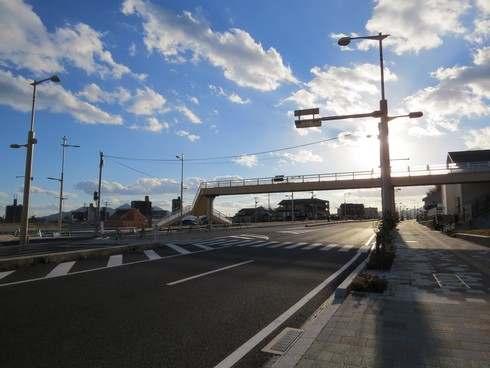 廿日市駅 北口の道路