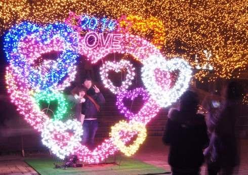 2015バレンタインは丘陵公園で!光に包まれる週末限定デート