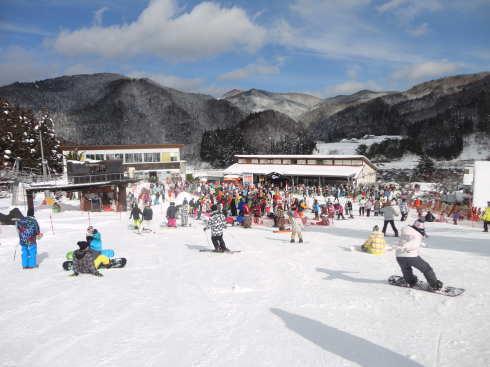 女鹿平スキー場(めがひらスキー場)の様子