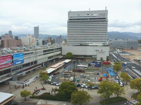 広島駅北口の様子