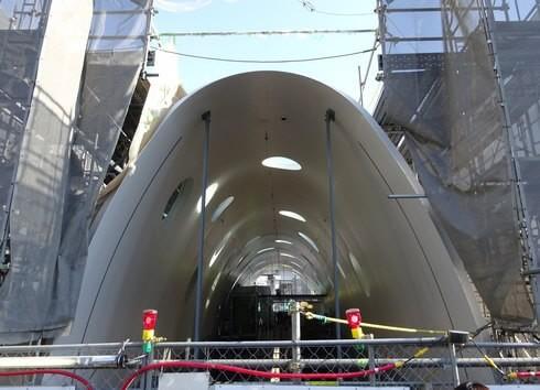 アストラムライン 新白島駅、工事の様子