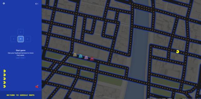 グーグルマップがパックマップに!Googleのエイプリルフール