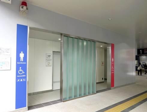 JR新白島駅の南口のトイレ