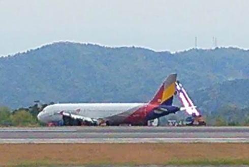 広島空港のアシアナ機、27日までに撤去で欠航減少へ
