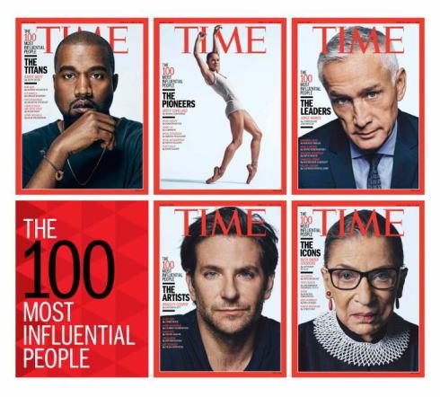 世界で最も影響力のある100人 一覧、2015年は日本人から2名選出