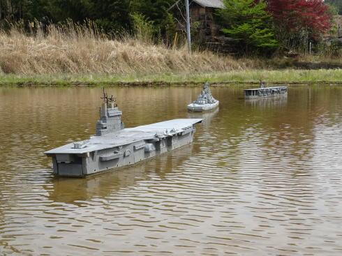 東広島 田んぼに護衛艦 画像3