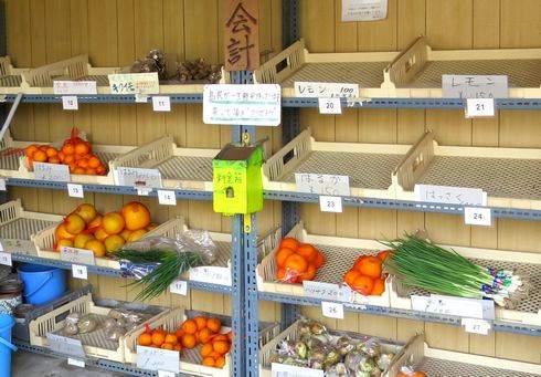 佐木島の無人市場