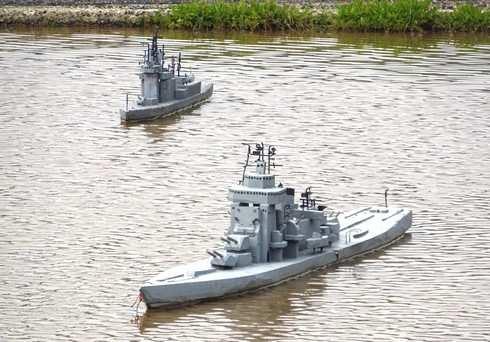東広島 田んぼに護衛艦や戦艦大和