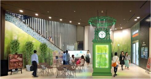 トランヴェールビルディング地下に緑の時計台、広島の新・待ち合わせ場所へ