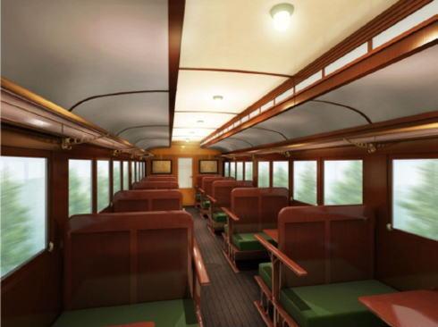 SLやまぐち 客車内装