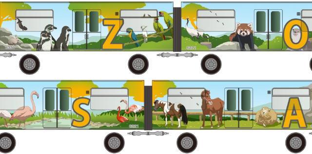 アストラムライン 動物園ラッピングトラムのデザイン