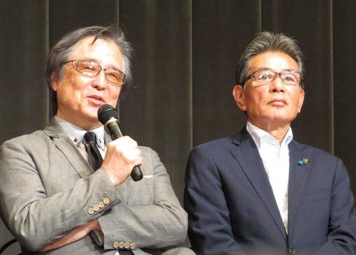 島田氏と、福山市長の羽田氏