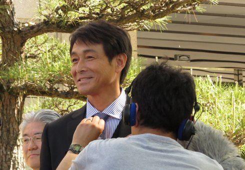 吉田栄作、映画 せいろの海の福山ロケにて