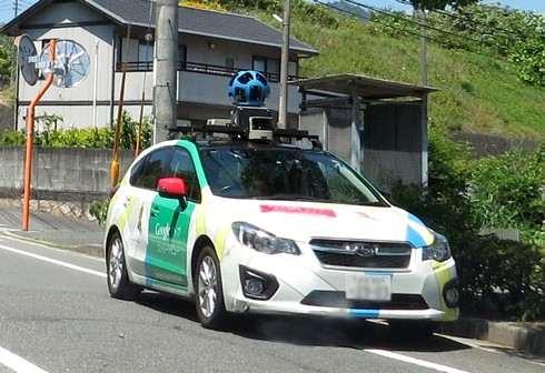 Googleストリートビューの撮影車に遭遇!グーグル車はこうなっていた