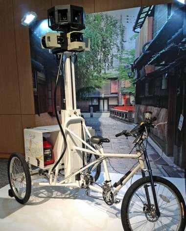 ストリートビュー撮影車には、自転車バージョンも