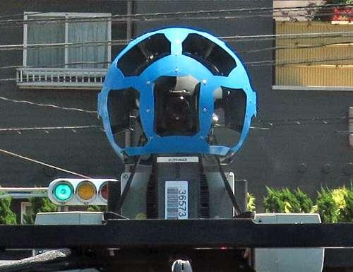 ストリートビューの撮影車に搭載されているカメラ