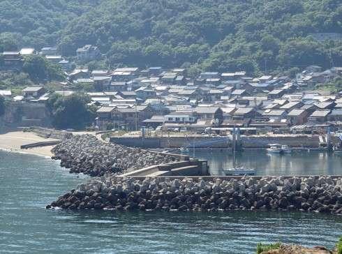 玉津島を陸とむすぶ防波堤