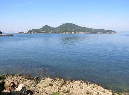 玉津島から見る仙酔島