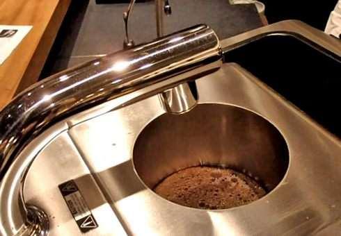 クローバーで抽出するときに出来る、コーヒーケーキ