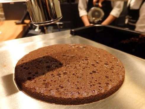 コーヒーケーキ、クローバーで抽出するときに出来る泡