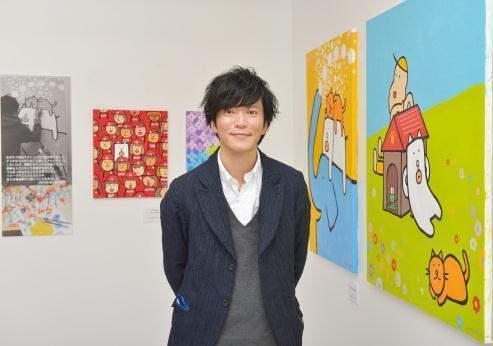 田辺誠一「かっこいい犬」 絵画展が広島で開催、サイン会も