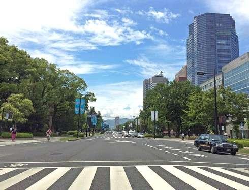 緑の多い広島市内