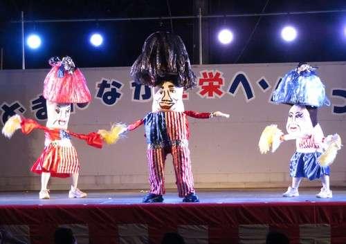 豊栄へそ祭り、へそ踊りの様子 YMCA