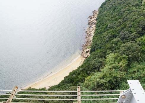 瀬戸大橋スカイツアー ビーチも上から眺められる