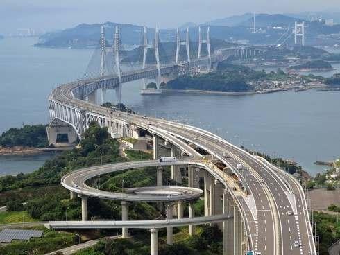 瀬戸大橋スカイツアー 与島PAと瀬戸大橋