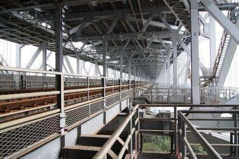 瀬戸大橋 線路脇の通路