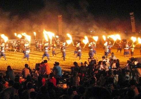 因島水軍まつり 2015 「火まつり・海まつり」、打ち上げ花火も