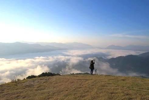 広島から見える 霧の海