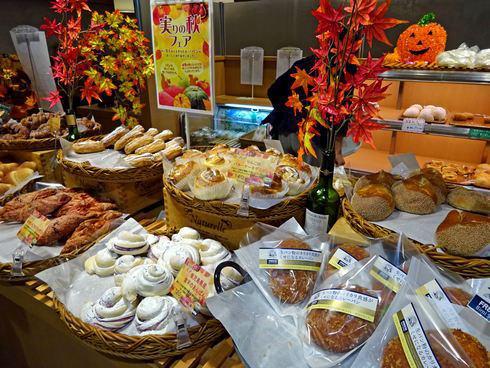ベーカリーカフェカジル横川店 パンの陳列