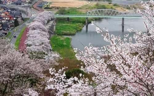 尾関山公園の展望台