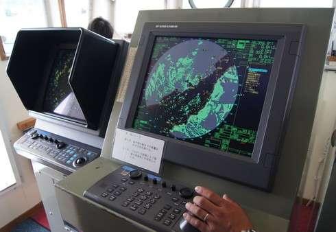 水産研究所 しらふじ丸のレーダー