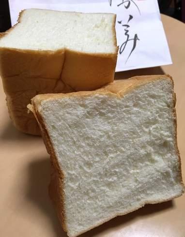 乃が美の食パン、カットしてみたところ