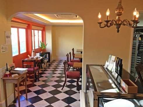 ブランジェリーヒロ、白島のパン屋 カフェコーナー