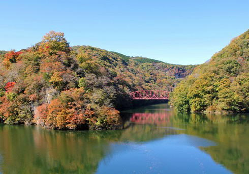 帝釈峡 神龍湖 シャッターポイント2