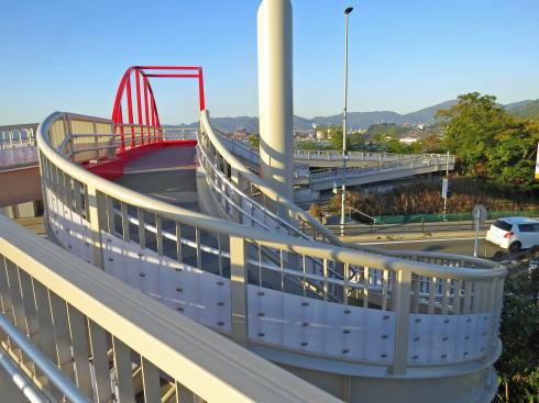 第三音戸大橋 の南にある螺旋階段