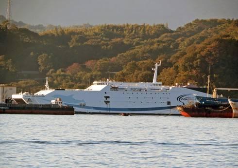 スーパーライナー オガサワラ、江田島の解体場に115億円の超高速旅客船