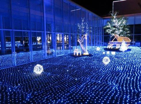 三原ポポロのクリスマスイルミネーション