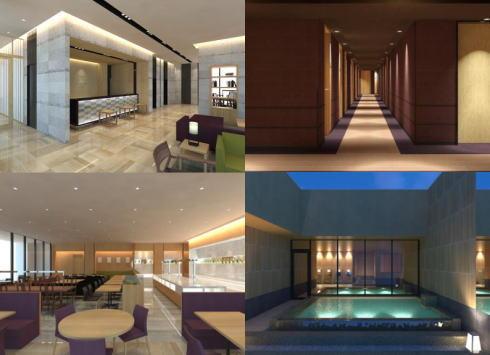 カンデオホテルズ広島八丁堀、都心の展望露天風呂付きホテル 1Fは人気ピザ店も