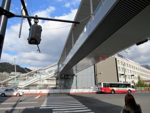 広島駅 新幹線口のペデストリアンデッキ