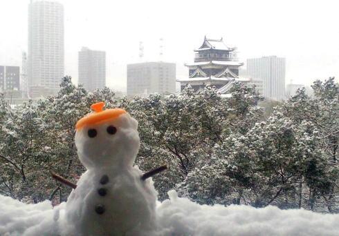 雪景色に染まる広島県内の風景、2016年大寒波はこれから