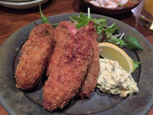 福山市 肴蔵(さかぐら) 牡蠣フライ
