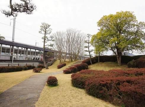 三原城跡の公園の様子