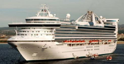 大型客船 ゴールデンプリンセスが広島初入港、歓迎セレモニーも