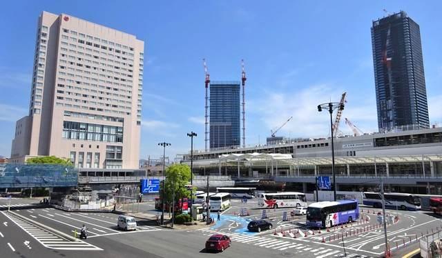 広島駅北口、駅前の風景