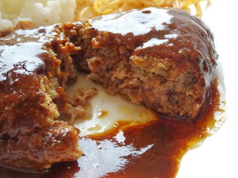 炙り焼きダイニング セント(Cent) 肉屋のてづくりハンバーグ断面