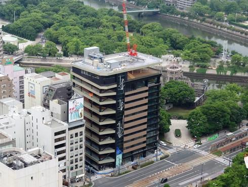 おりづるタワー まもなく完成、広島・原爆ドーム横に